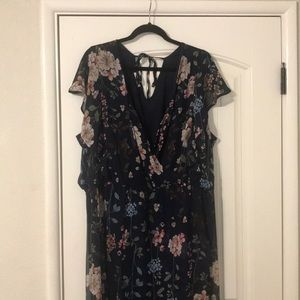 Maurices Dresses - NWT maurices Navy Blue with flowers dress